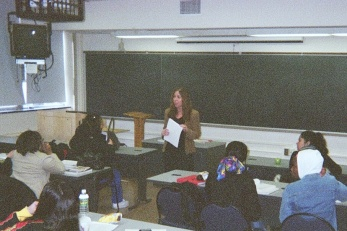 Mary Chayko teaching
